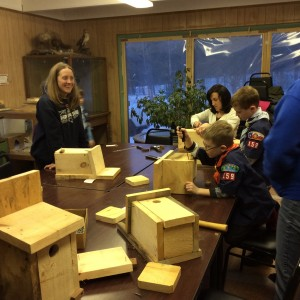 Scouts Bird House Building Brimfield 2015