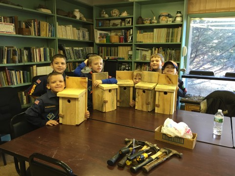 Pack 144 from Oakham visits Capen Hill!